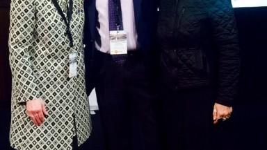 Directora de la ACI con presidente y directora de COCETA