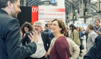 La alcaldesa de Barcelona, Ada Colau, en la sección de Economía Social del Biz Barcelona