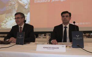 Comercio, alimentación sostenible y cooperativismo en el encuentro empresarial en el que han participado Agustín Markaide e Ignacio Ugalde