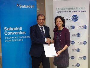 CEPES y Banco Sabadell firman un convenio para financiar a empresas de la Economía Social