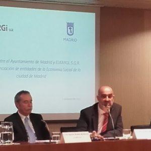 En marcha el convenio entre el Ayuntamiento de Madrid y Elkargi SGR para financiar empresas de economía social
