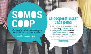 La unión de cooperativas gallegas ESPAZOCOOP presenta la campaña #SomosCoop
